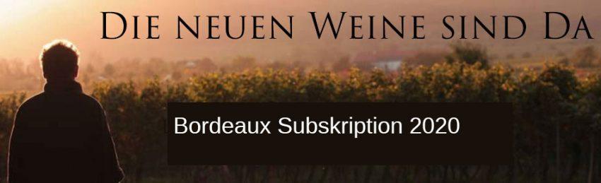 Subskription von Bordeaux Weinen